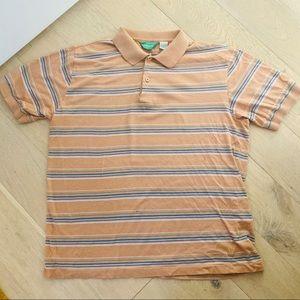 Vintage Striped Short Sleeve Polo